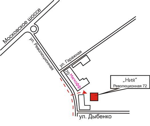 """Схема проезда, как найти ООО  """"НИЯ """" в Самаре, Революционная, 72."""